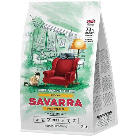 Корм для кошек Savarra живущих в помещении утка-рис 2кг