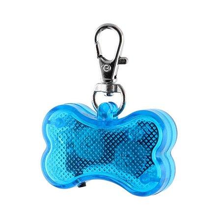 Светодиодный брелок для собак Ripoma косточка синий Ripoma