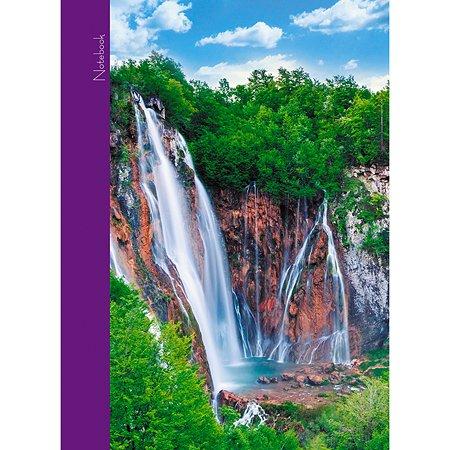 Книга записей Listoff Пейзаж Водопады А6 64л
