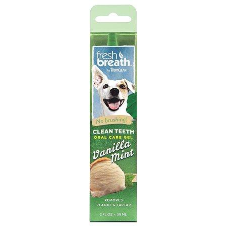 Гель для чистки зубов собак TropiClean ваниль-мята 59мл