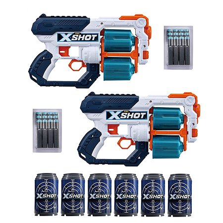 Набор X-SHOT  Xcess Tk-12 Double Pack 2 бластера 36259