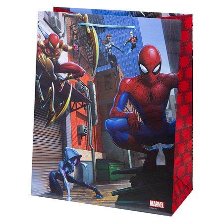 Пакет подарочный Феникс Презент Дисней Человек-паук 26*32*13см 140г/м2 81180