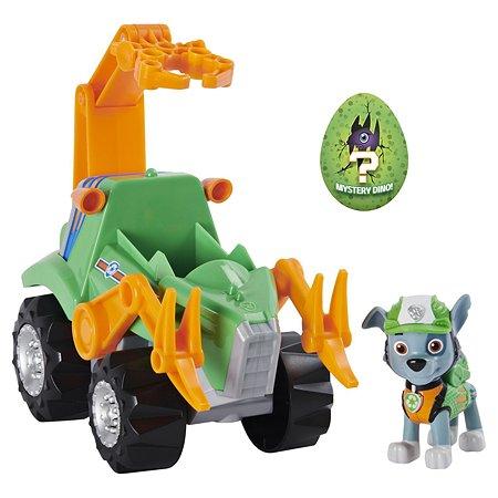 Машинка Paw Patrol Дино с Рокки в непрозрачной упаковке (Сюрприз) 6059525