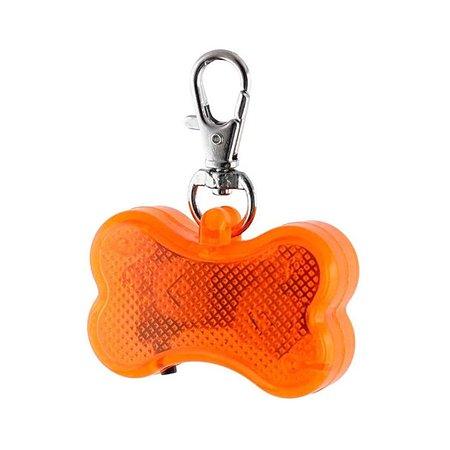 Светодиодный брелок для собак Ripoma косточка оранжевый Ripoma