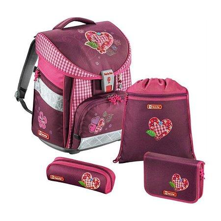 Ранец Hama Step By Step Comfort Tweedy Hearts розовый / рисунок