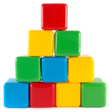 Кубики Пластмастер цветные 10шт 14001