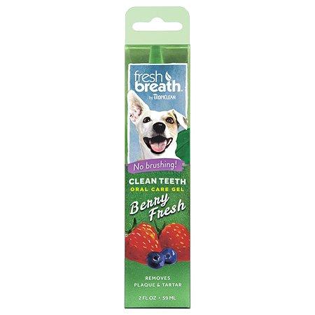 Гель для чистки зубов собак TropiClean ягодный 59мл