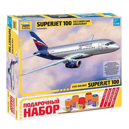 Подарочный набор Звезда Пассажирский авиалайнер Суперджет-100