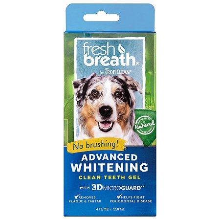 Гель для чистки зубов собак TropiClean Свежее дыхание отбеливающий 118мл
