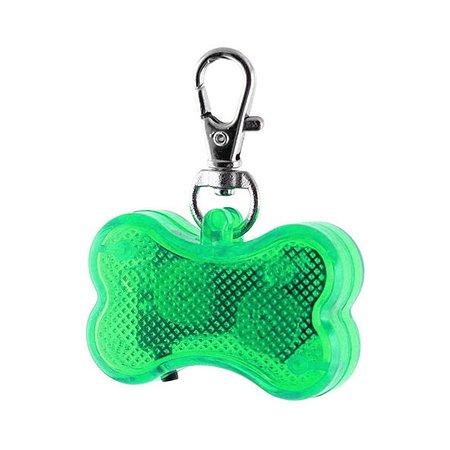 Светодиодный брелок для собак Ripoma косточка зеленый Ripoma