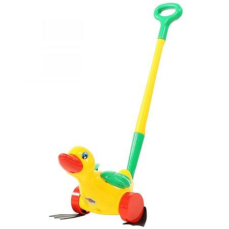 Игрушка каталка Полесье Утёнок с ручкой 7925