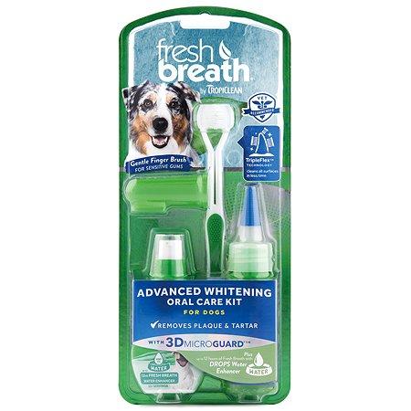 Набор для ухода за зубами собак TropiClean Свежее дыхание отбеливающий
