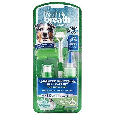 Набор для ухода за зубами собак TropiClean мини пород Свежее дыхание отбеливающий