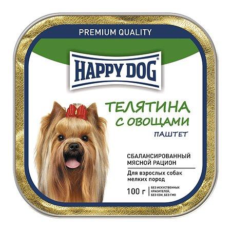 Корм для собак Happy Dog мелких пород телятина-овощи паштет 100г