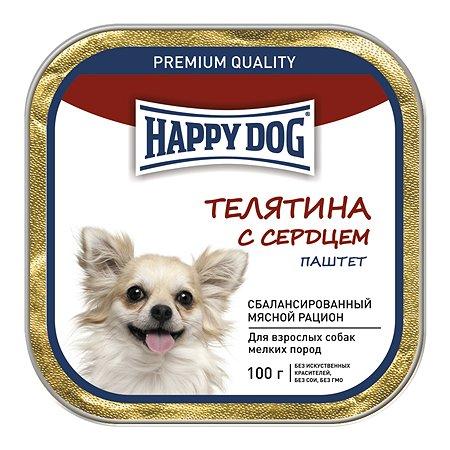 Корм для собак Happy Dog мелких пород телятина-сердце паштет 100г