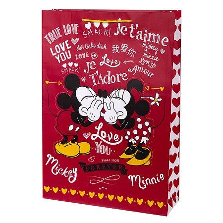 Пакет подарочный Феникс Презент Дисней Микки Маус и Минни Маус 33*46*10см 140г/м2 81188