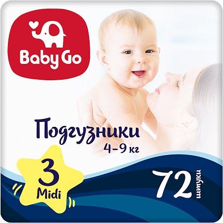 Подгузники Baby Go Midi 4-9кг 72шт 2314786