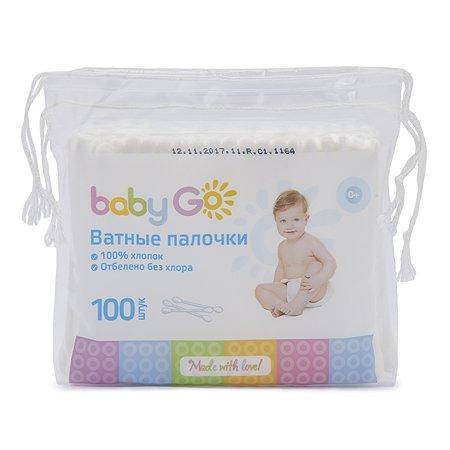 Палочки ватные Baby Go 100шт 7885