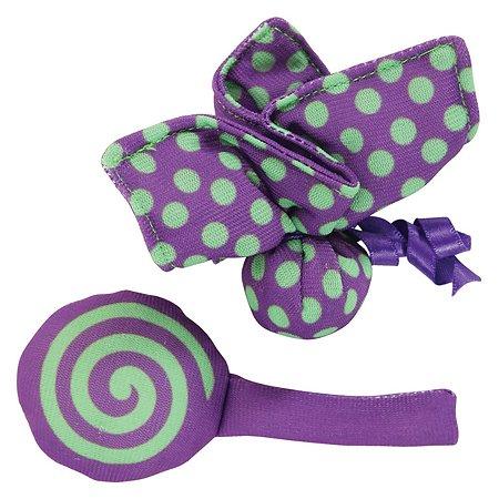 Игрушка для кошек Zolux Бабочка и конфета с мятой малые 2шт Фиолетовые