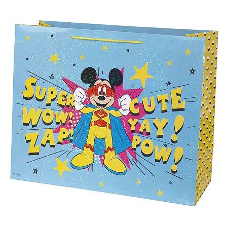 Пакет подарочный Феникс Презент Дисней Микки с тиснением 41*33*16см 250г/м2 81193