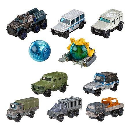 Набор машин Matchbox Jurassic World 5шт в ассортименте