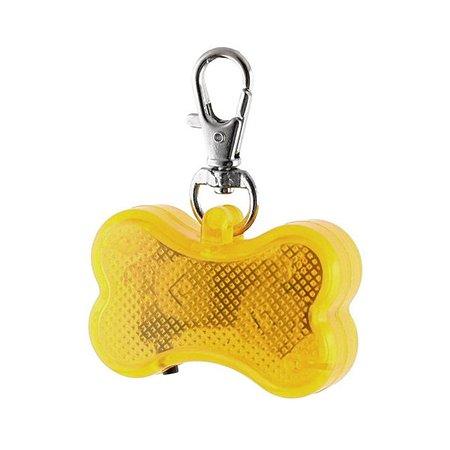 Светодиодный брелок для собак Ripoma косточка желтый Ripoma