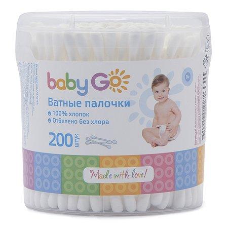 Палочки ватные Baby Go круглые 200шт 7888