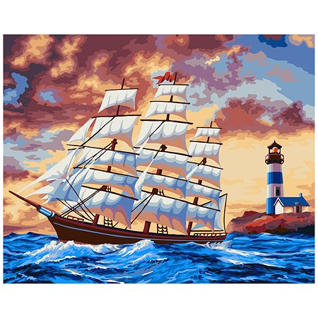 Набор для рисования Attivio Картина по номерам Море DM002