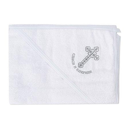 Полотенце-уголок Эдельвейс для крещения 80x90 см