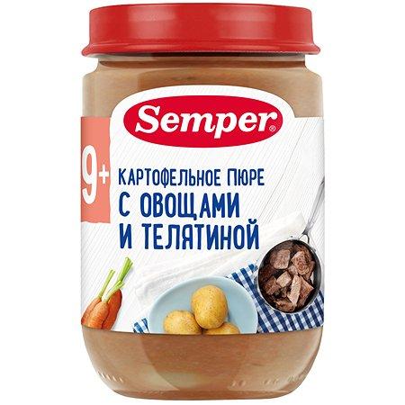 Пюре Semper картофель-морковь-телятина 190г с 9месяцев
