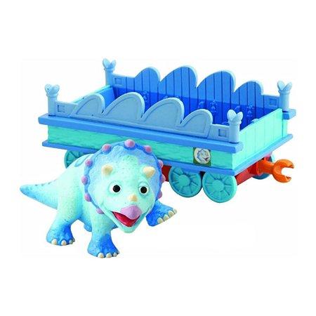 Игровой набор Поезд динозавров Тэнк 6 см с вагончиком