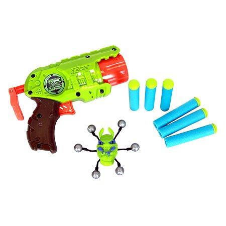 Микро Бластер X-SHOT с мишенями Атака Пауков
