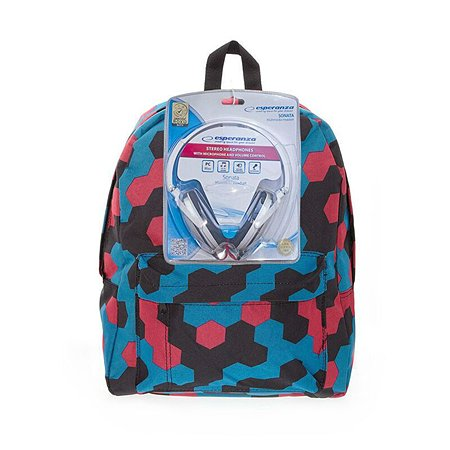 Рюкзак с наушниками 3D-Bags Мозаика  цвет мульти