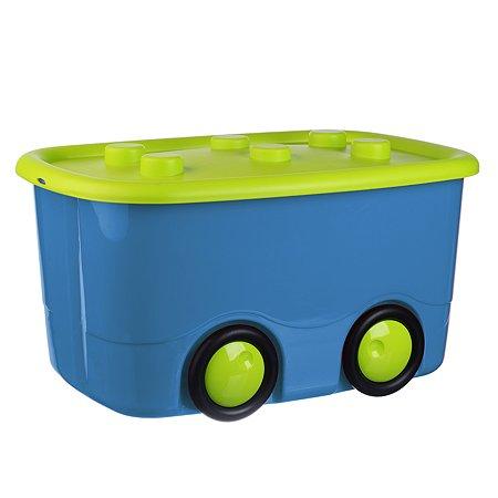Ящик д/игрушек IDEA МОБИ 40л 32*41*60 бирюзовый