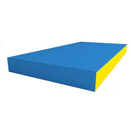 Щит мягкий ROMANA одинарный Голубой-Жёлтый