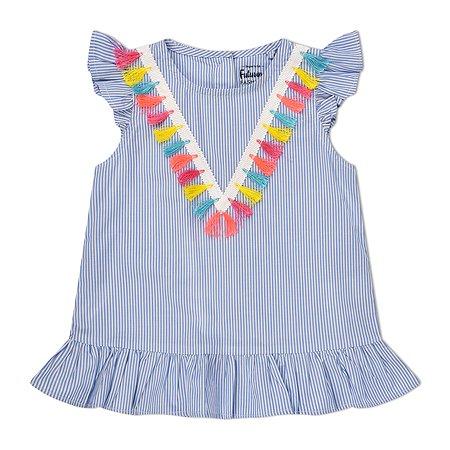 Блузка Futurino Fashion голубая