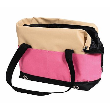 Переноска-сумка Nobby Salta малая Бежевая-Розовая
