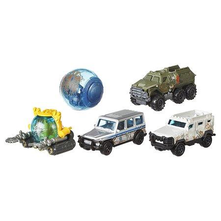 Машинки Matchbox Jurassic World Боевые раны в ассортименте FVR56