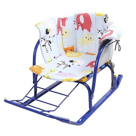 Сиденье для санок Ника с подлокотниками Зоопарк СС2