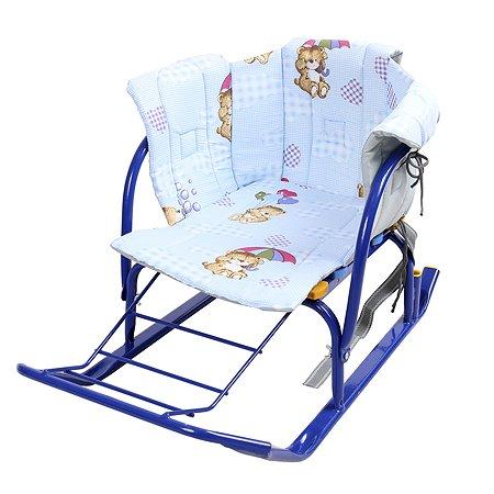 Сиденье для санок Ника с подлокотниками Мишка с зонтиком СС2