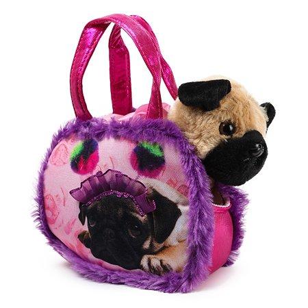 Игрушка мягкая Aurora Мопс в сумке-переноске 181196A
