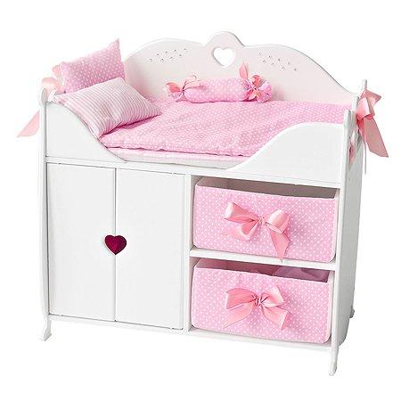 Мебель для кукол PAREMO Кроватка-шкаф Белый PFD120-53
