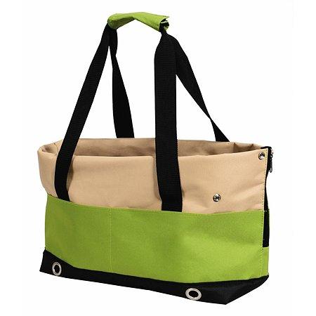 Переноска-сумка Nobby Salta малая Бежевая-Зеленая