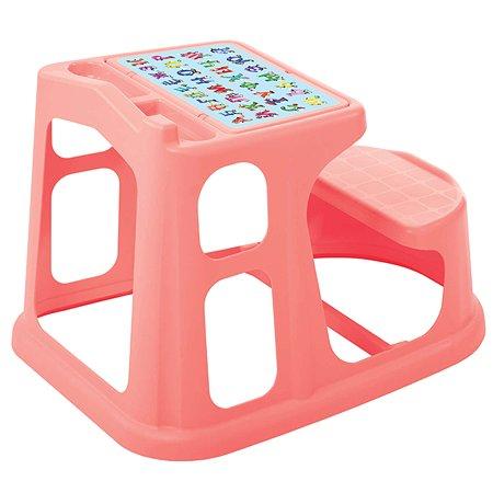 Стол-парта Пластишка с картинкой Коралловый