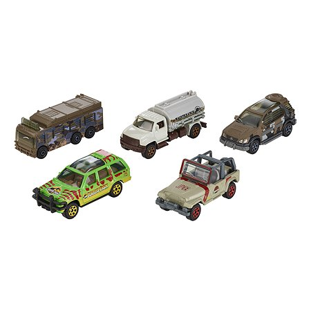 Набор машин Matchbox Jurassic World эксклюзивные 5 шт FVR50