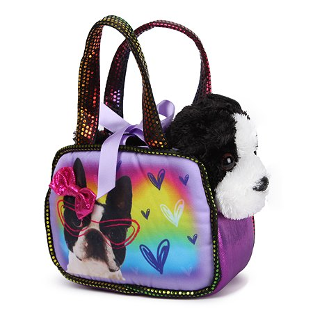 Игрушка мягкая Aurora Бостонский терьер сумке-переноске 181196B