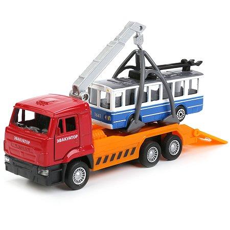 Набор Технопарк Камаз эвакуатор троллейбус 245731