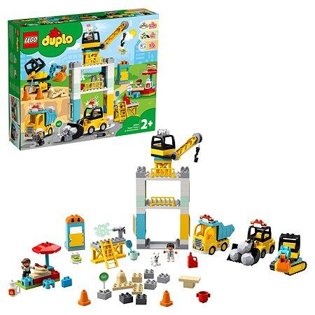 Конструктор LEGO DUPLO Башенный кран на стройке 10933