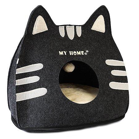 Лежанка для кошек Не один дома Мяули 860119-03prGR1tr