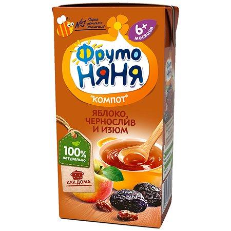 Компот ФрутоНяня яблоко-чернослив-изюм 0.2л с 6месяцев
